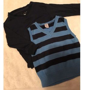 Boys sweater vest and long sleeve shirt, 12 months